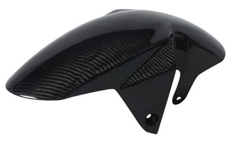 Front Fender in Glossy Plain Weave Carbon with Fiberglass for Suzuki SV1000, SV650  2003-2012 ( not Gladius)