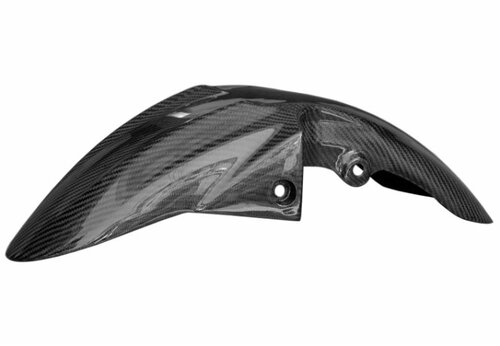 Front Fender in Glossy Twill Weave Carbon Fiber for Suzuki GSR600