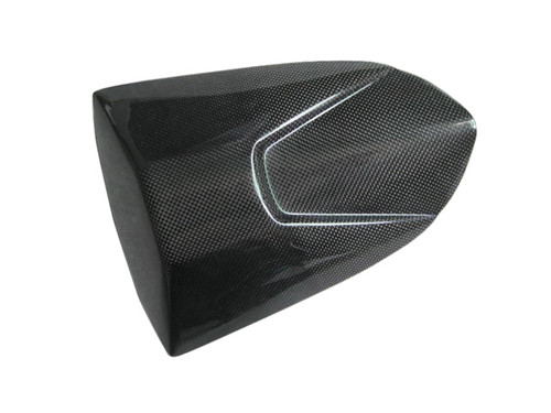 Passenger Seat Cover for Aprilia RSVR 06-09, Tuono 06-10 in Glossy Plain Weave Carbon Fiber