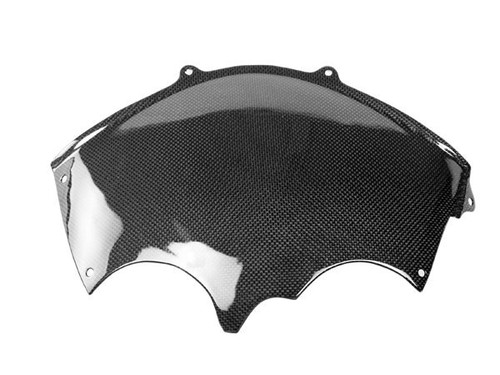 Upper Fairing Base in Glossy Plain Weave Carbon with Fiberglass for Suzuki GSXR 600, GSXR 750 2004-2005