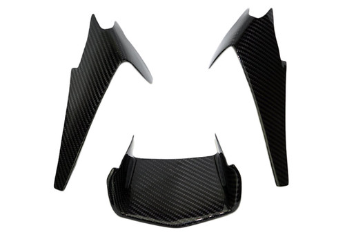 Front Nose Infill (Cover) in Glossy Twill Weave Carbon Fiber for Yamaha R1 2015+