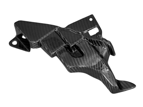 ECU Cover in Glossy Twill Weave Carbon Fiber for Yamaha R1 2015+