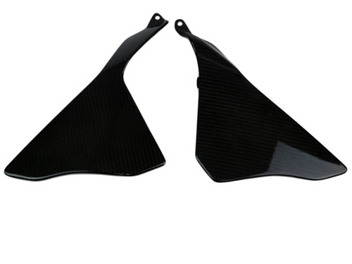 Side Fairings (c) in Glossy Twill Weave Carbon Fiber for Yamaha R1 2015+