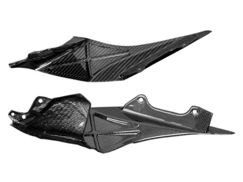 Inner Fairings (b) in Glossy Twill Weave Carbon Fiber for Yamaha R1 2015+