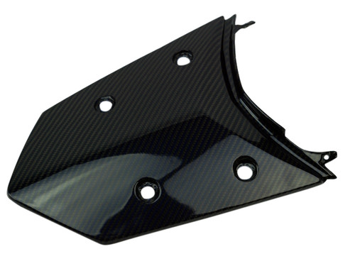 Rear Tail Fairing in Black and Blue Glossy Twill Weave Carbon Fiber for KTM 1290 Super Adventure, 1190 Adventure