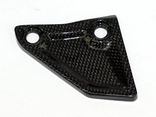 Chain Guard (B) in Glossy Plain Weave Carbon with Fiberglass for KTM 1290 Super Adventure, 1190 Adventure.