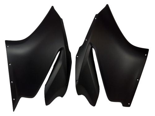 Large Side Panels in Matte Plain Weave Carbon Fiber for Ducati Panigale 1299