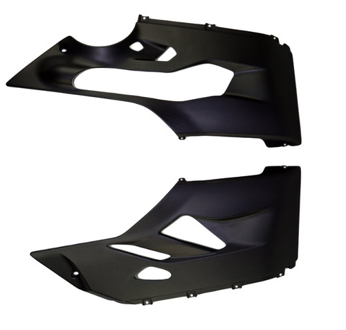 Belly Pan in Matte Plain Weave Carbon Fiber for Ducati Panigale 1299