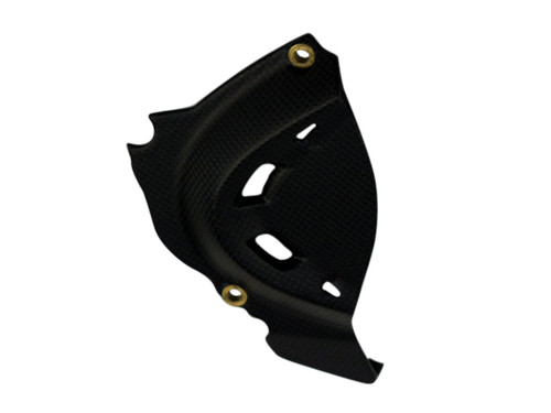 Sprocket Cover in Matte Plain Weave Carbon Fiber for Ducati Panigale 1299