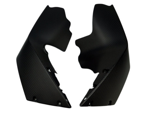 Side Spoilers in Matte Twill Weave Carbon Fiber for KTM RC8 2008+