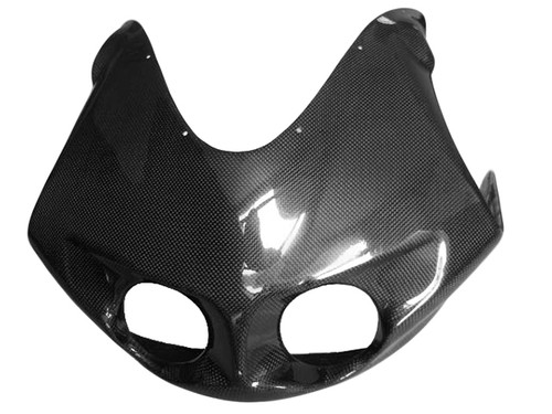 Top Fairing in Glossy Plain Weave Carbon with Fiberglass for Buell Buell XB9R,XB12R