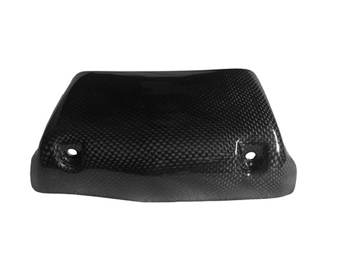 Oiler Cooler Scoop (5-row) in Glossy Plain Weave Carbon with Fiberglass for Buell XB9,XB12, S,R