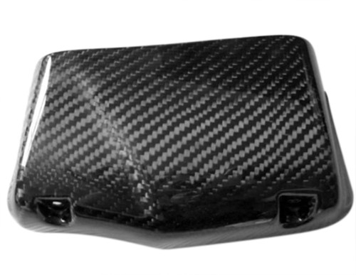Oiler Cooler Scoop (6-row) in Glossy Plain Weave Carbon with Fiberglass for Buell XB12 06-08