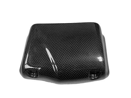 Oiler Cooler Scoop (8-row) in Glossy Plain Weave Carbon with Fiberglass for Buell XB9,XB12, S,R