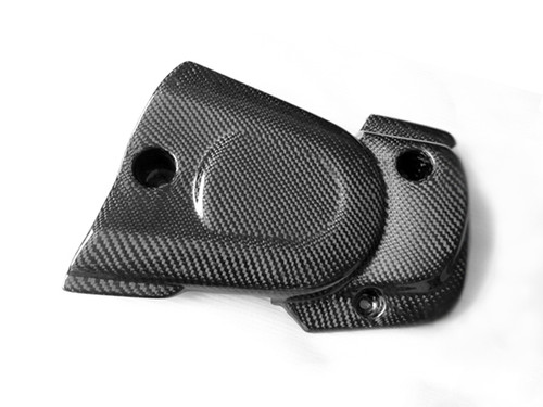 Pulley Cover in Glossy Plain Weave Carbon with Fiberglass for Buell XB9,12 06-10   ( does not fit XB12STT and XB12SS)