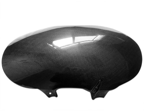 Lower Front Fender in Glossy Plain Weave Carbon with Fiberglass for Buell XB12,X,XT,TT,SS,S 06-09