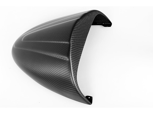 Seat Cover in Matte Plain Weave Carbon with Fiberglass for Buell XB SS Long Models