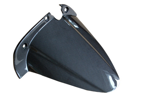 Rear Hugger (Style 2) in Glossy Plain Weave Carbon Fiber for Buell XB series