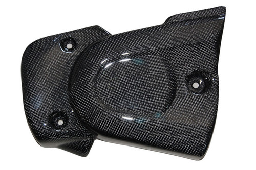Belt Cover in Glossy Plain Weave Carbon with Fiberglass for Buell XB9, XB12