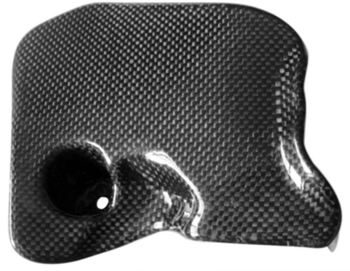 Air Flow Guide in Glossy Twill Weave Carbon with Fiberglass for Buell 1125