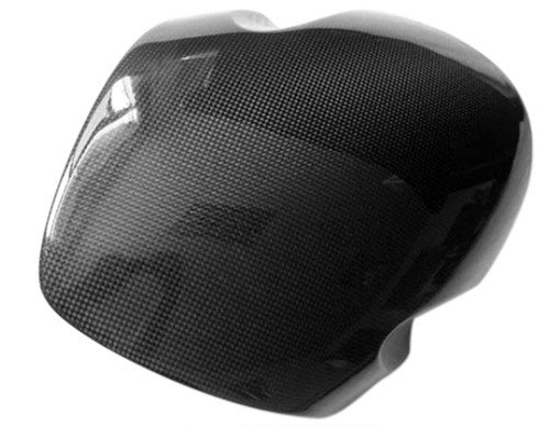 Windshield in Glossy Plain Weave Carbon with Fiberglass for Buell 1125