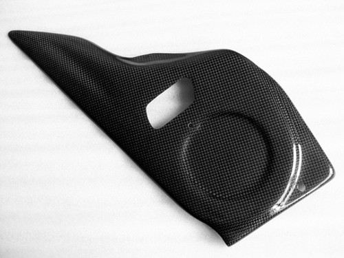 Pulley Cover in Glossy Plain Weave Carbon with Fiberglass for Buell X1,S1,M2