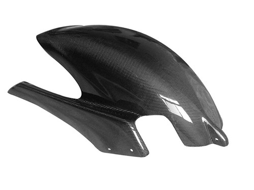 Rear Hugger in Glossy Plain Weave Carbon with Fiberglass for Buell X1