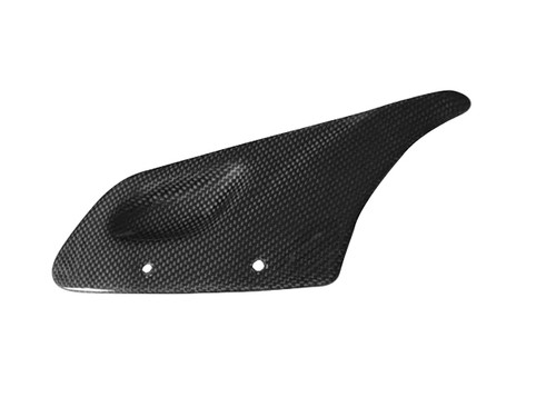 Chainguard in Glossy Plain Weave Carbon with Fiberglass for Buell X1