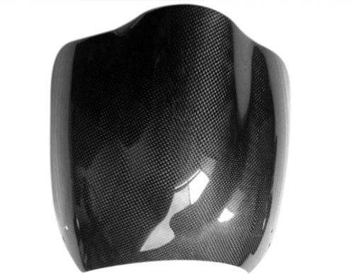 Windshield in Glossy Plain Weave Carbon with Fiberglass for Buell M2
