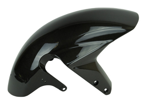 Front Fender in Glossy Twill Weave shown for Suzuki GSXR 1000 2003-2004, GSXR 600, GSXR 750 2004-2005.