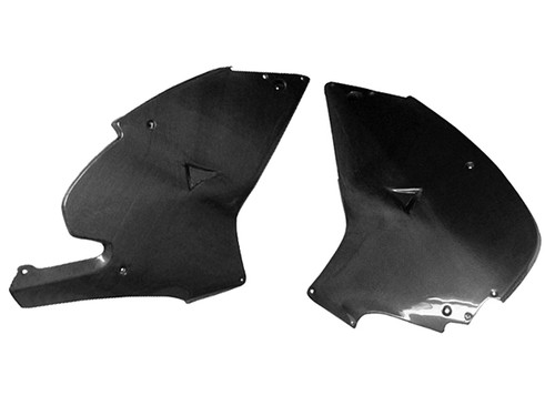 Large Side Panels in Glossy Plain Weave Carbon Fiber for Aprilia RS250 1998-2004
