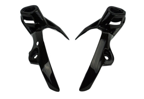 Head Light Holders in Glossy Twill Weave Carbon Fiber for Yamaha FZ-09/ MT-09 2014-2016