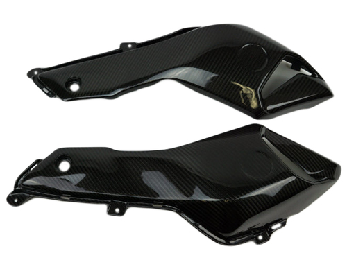 Air Duct Side Panels in Glossy Twill Weave Carbon Fiber for Yamaha FZ-07/ MT-07