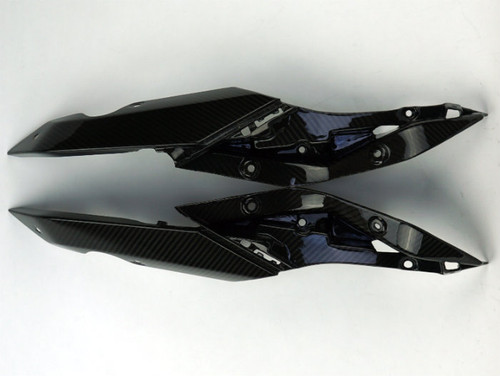 Tail Fairings Trim in Glossy Twill Weave Carbon Fiber for BMW R1200R, RS 2015+