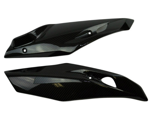Belly Fairings in Glossy Twill Weave Carbon Fiber for BMW R1200R, RS 2015+