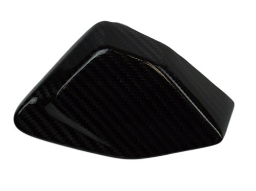 Small Left Side Panel in Glossy Twill Weave Carbon Fiber for BMW R1200R 2015+,R1200RS 2015+, R1200GS 2013-2019 (fits ADV)