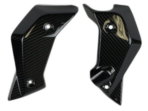 Radiator Covers in Glossy Plain Weave Carbon Fiber for BMW R1200R 2015+