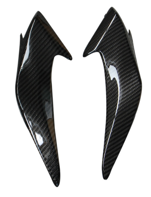 Headlight Fairings in Glossy Twill Weave Carbon with Fiberglass for Honda CBF600 Hornet 2011-2013