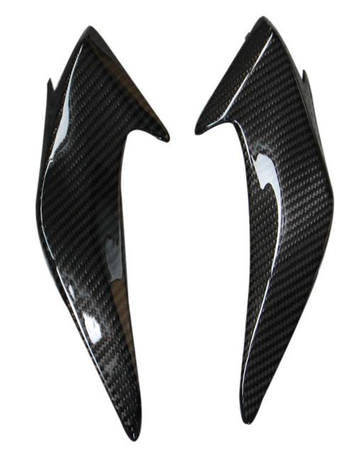 Headlight Fairings in Glossy Twill Weave Carbon with Fiberglass for Honda CBF600 Hornet 2011-2013