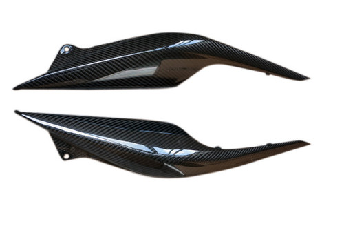 Tail Fairings in Glossy Twill Weave Carbon with Fiberglass for Honda CBF600 Hornet 2011-2013