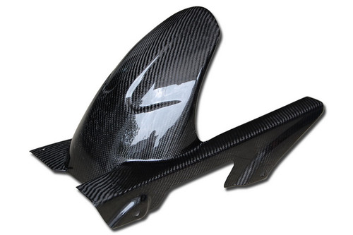Rear Hugger in Glossy Twill Weave Carbon with Fiberglass for Honda CBF600 Hornet 2011-2013