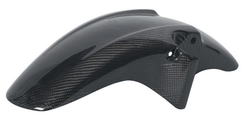Front Fender in Glossy Twill Weave Carbon with Fiberglass for Honda CBF600 Hornet 599 1998-2006