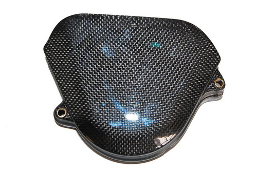 Sprocket Cover in Glossy Twill Weave Carbon Fiber for Honda CBF600 Hornet 599 1998-2006
