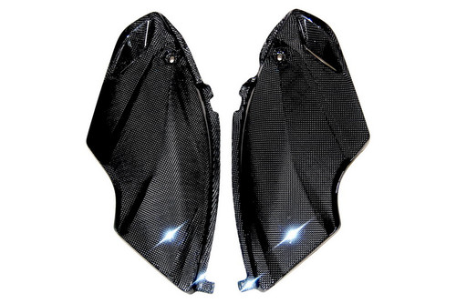 Side Panels in Glossy Plain Weave Carbon with Fiberglass for Honda CBF600 Hornet 2007-2010