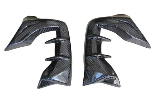 Radiator Lateral Panels For Racing in Glossy Twill Weave Carbon Fiber for Honda CBF600 Hornet 2007-2010