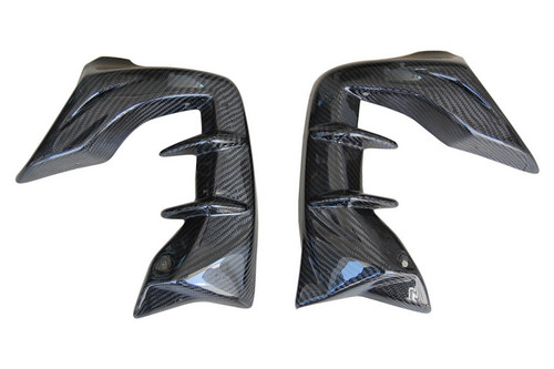 Radiator Lateral Panels For Racing in Glossy Twill Weave Carbon with Fiberglass for Honda CBF600 Hornet 2007-2010