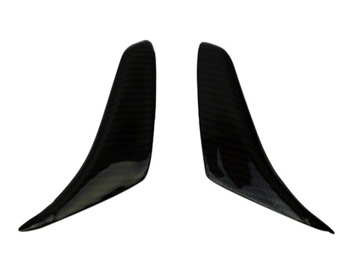 Mirror Covers in Glossy Twill Weave Carbon Fiber for MV Agusta F3 675 & 800