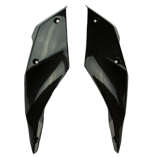 Tank Side Covers in Glossy Twill Weave Carbon Fiber for KTM Supermoto 990 SMR 2008-2013
