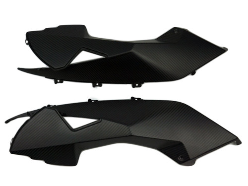 Upper Side Fairings in Matte Twill Weave Carbon Fiber for KTM RC8