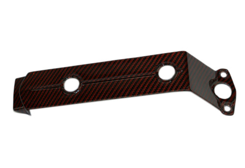 Tail Fairing Bracket in Black and Orange Glossy Twill Weave Carbon Fiber for KTM RC8